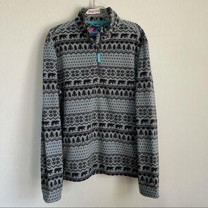 Chubbies Bear Half Zip Sweater Pullover
